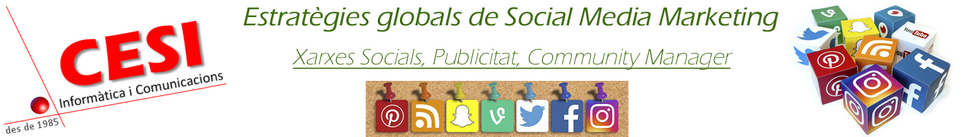 Estrategies globals de Social Media Marketing, xarxes socials, publicitat, community manager